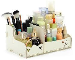 generic diy wood beauty makeup storage drawers box cosmetics organizer removable case