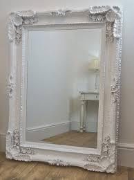 beveled white ornate french shabby chic