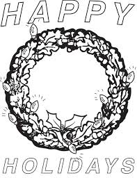 Small Picture Happy Holidays FREE Printable Christmas Wreath Coloring Page for