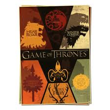 Game Of Thrones House Sigils Televisie Posters Retro Poster Game Of Thrones House Sigils Poster