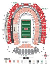 Ohio Stadium Seating Chart Ohio Stadium Virtual Seating Chart Click Here For The Ohio