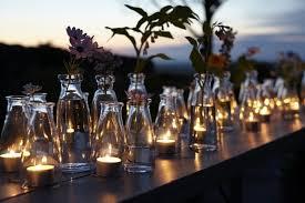 garden party lighting ideas. Schnell, Günstig Und Einfach: Reihungen Von Gläsern Auf Mäuerchen, Simsen Tischen, Garden Party Lighting Ideas I