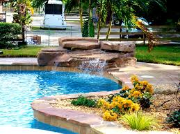 Inground Pools With Rock Waterfalls Waterfall Kits For Pools