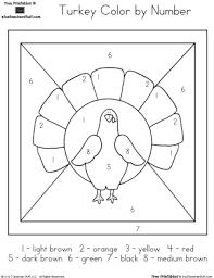 Small Picture Turkey Color By Number A to Z Teacher Stuff Printable Pages and