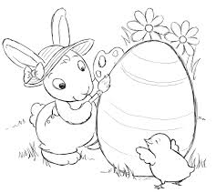Easter Bunny Colouring Pages Printable Printable Coloring Page For