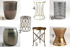 round metal side table best interior and furniture ideas amusing small gold vintage lounge diy with round metal side table