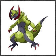 Haxorus Evolution Chart Pokemon Haxorus Free Papercraft Download