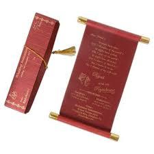 Scroll Wedding Cards At Rs 17 Piece Scroll Invitation Card Id