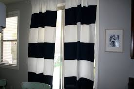 Decorations:Impressive Home Design With Grey Wall Paint And Black And White  Stripped Curtain Decor