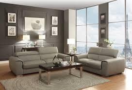 top brand furniture manufacturers. Homelegance Noemi Sofa Set - Light Grey Top Grain Leather Brand Furniture Manufacturers P