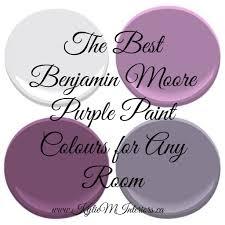 Purple Paint Bedroom The Most Popular Benjamin Moore Purples And Purple Undertones