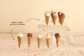Ice Cream Cone Display Stand Stunning Mini Ice Cream Cones Acrylic Stand DIY