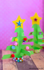 Simplest 3d Paper Christmas Tree Print Or Make With