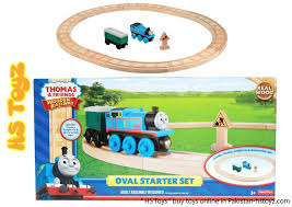thomas the train wooden set the train wooden railway oval starter set