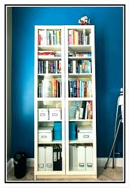 bookcases glass door bookcase white lovely with doors bookshelf charming narrow