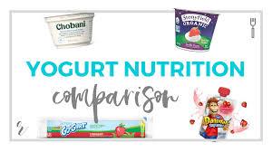 chobani greek vs stonyfield organic yogurt vs go gurt vs ds nutrition parison