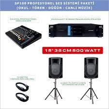 Notel SP 100 Profesyonel Ses Sistemi Paketi (Okul - Tören - Düğün - Canlı  Müzik)