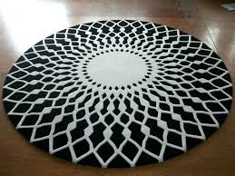 large black and white rug wool round large area rugs luxury prayer carpet modern black white