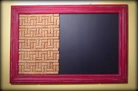 Blackboard Chalkboard Wine Cork Pin Board Frame