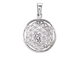 sterling silver 22mm flower of life sacred geometry pendant