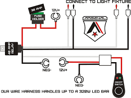 amazon com 1 arsenal offroad led light bar universal wiring LED Light Harness at Amazon Led Wiring Harness