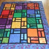 My first stained glass quilt. | Quilts | Pinterest | Stained glass ... & Quilting : Stained Glass Window Adamdwight.com