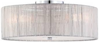 possini euro sheer 16 wide silver fabric ceiling light flush mount ceiling light fixtures com