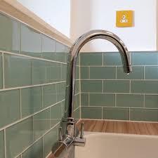 Kitchen Tile Uk Aqua Marine Turquoise Glass Metro Tiles Tiles For Kitchen