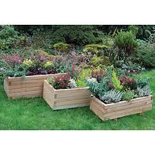 garden planters. Forest Garden Durham Rectangular Planter - Set Of 3 Planters