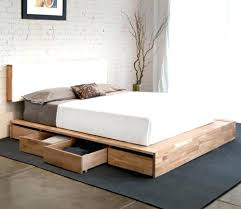 low mattress frame white double bed frame low queen bed queen size ...
