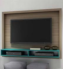 Yasuo Wall Mounted TV Unit in Oak & Aquamarine Blue Finish by Mintwud