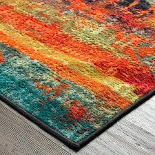 teal orange rug gray