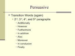 persuasive writing powerpoint persuasive