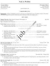 Sample Resume For Fresh College Graduate Http Www Resumecareer