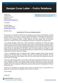 public relations sle cover letter