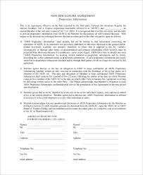 Standard Nda Agreement Template Sample Non Disclosure Agreement In Pdf 10 Examples In Pdf