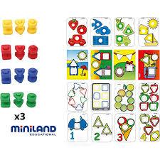 """<b>Развивающий набор</b> """"<b>Винты</b> и гайки"""" в чемодане, 72 шт., <b>Miniland</b>"""