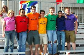 Gay college students + support