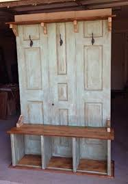Bench Coat Racks Use two doors to make into entry way benchcoat rack or could just 4