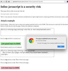 Disable inline JavaScript for security | Better world by better software