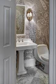 20 sweet bathrooms with pedestal sinks messagenote com paisley wallpaper transitional bathroom