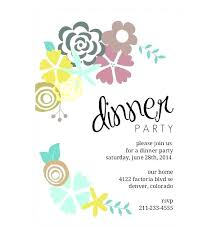 dinner party invites templates dinner party invitations word invitation template bridal shower free
