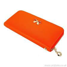 best ing women leather wallet wallet orange s gearonic tm lady bow tie zipper