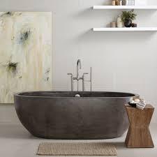 Gorgeous Avalon Freestanding Concrete Bathtub And Slate Finish Avalon Freestanding  Soaking Tub Native Trails in Freestanding