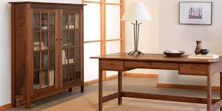 solid wood bookcase with glass doors