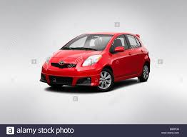 2009 Toyota Yaris S in Red - Front angle view Stock Photo, Royalty ...