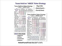 Texas Holdem Scoring Chart