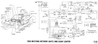 mustang wiring diagrams and vacuum schematics average joe 1968 mustang wiring diagram interior lights cigar lighter