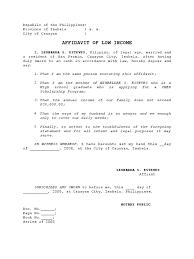 Affidavit Of Non Filing Of Income Tax Affidavit Public Law