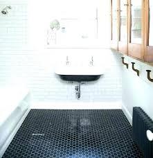 hex tile bathroom hexagon black tiles wall installing floor and white he matte black hexagon tile bathroom